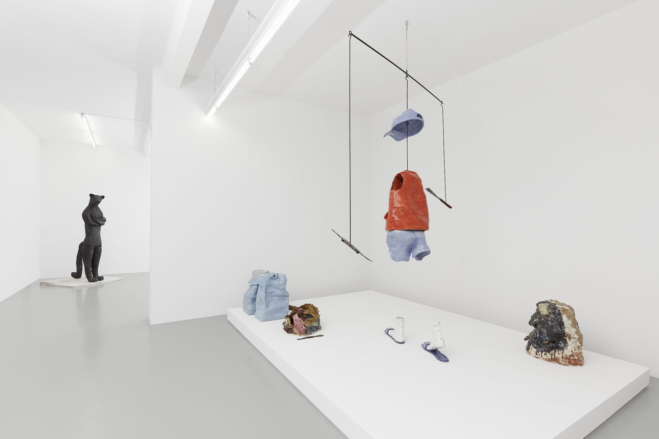 Ausstellungsansicht FURTHER THOUGHTS ON EARTHY MATERIALS GAK Gesellschaft für Aktuelle Kunst Photo: Tobias Hübel