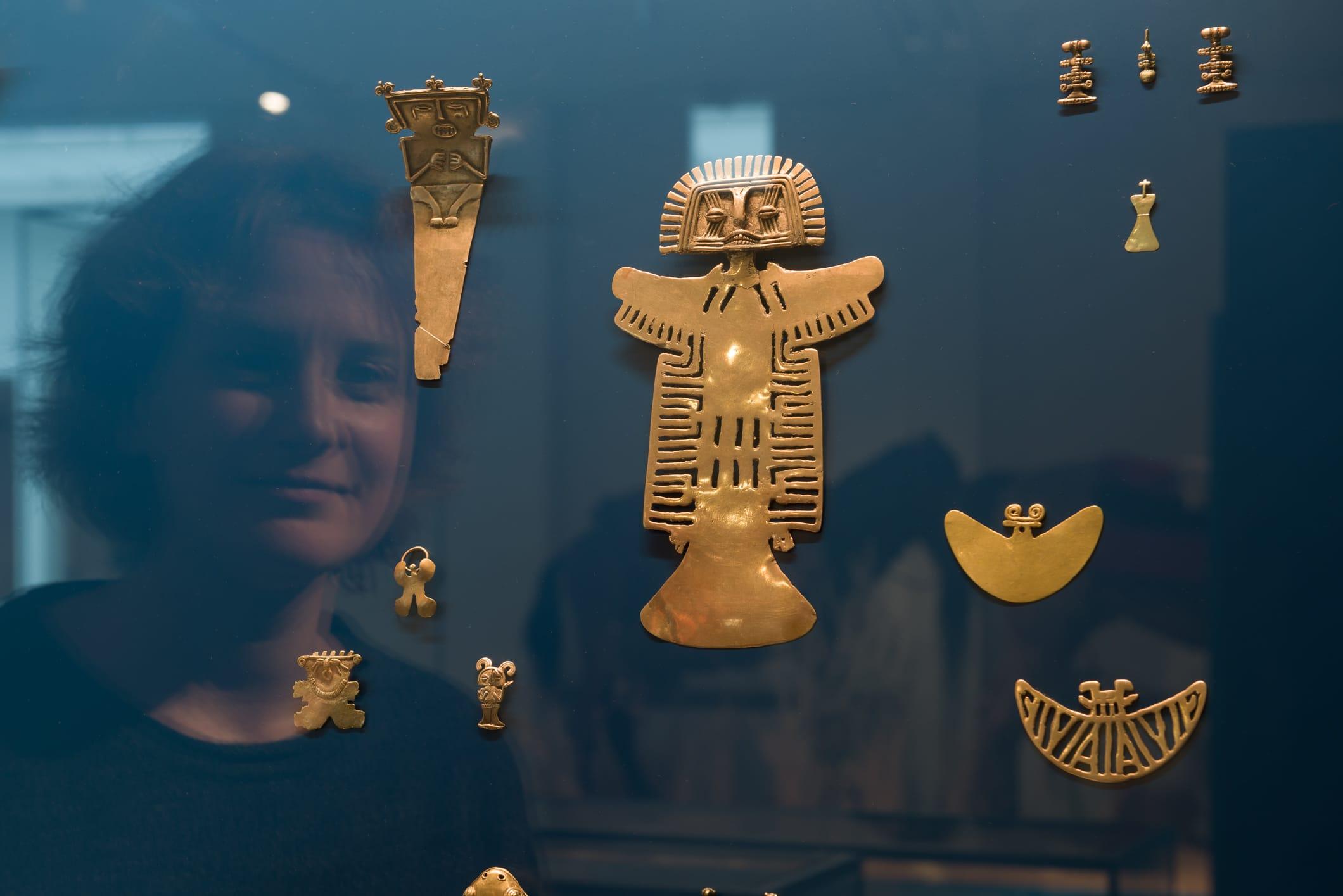 Goldschatz im Bereich Einwanderung, Amerika © Übersee-Museum Bremen, Foto: Matthias Haase