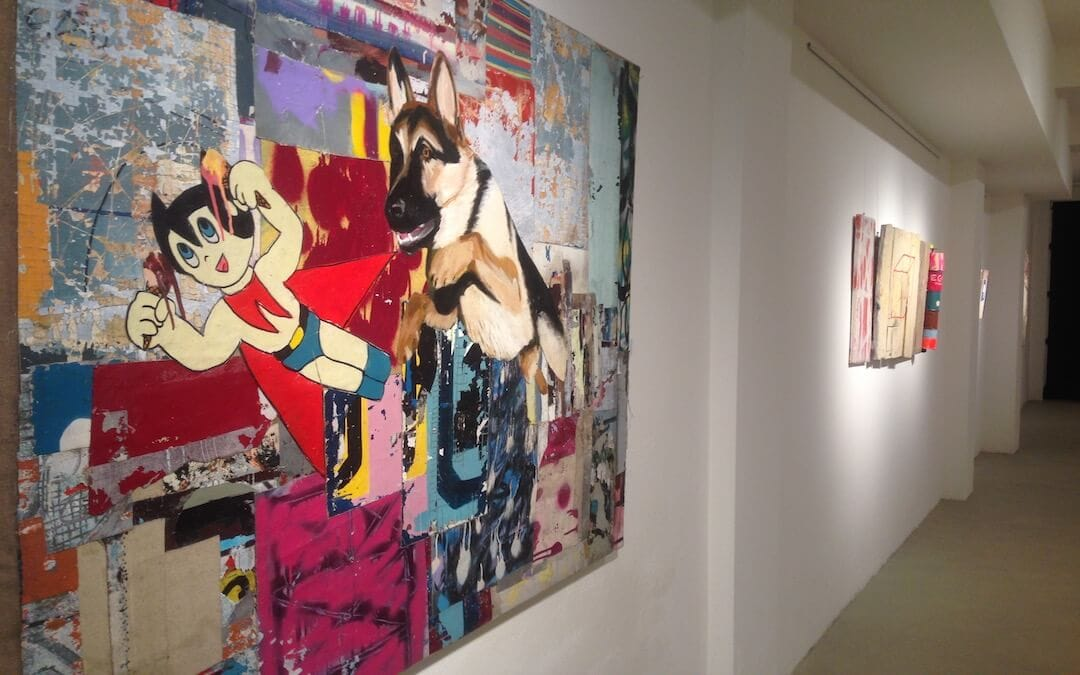 Gian Pietro Bombardelli e la sua arte tra sonorità hip hop, spray e collage