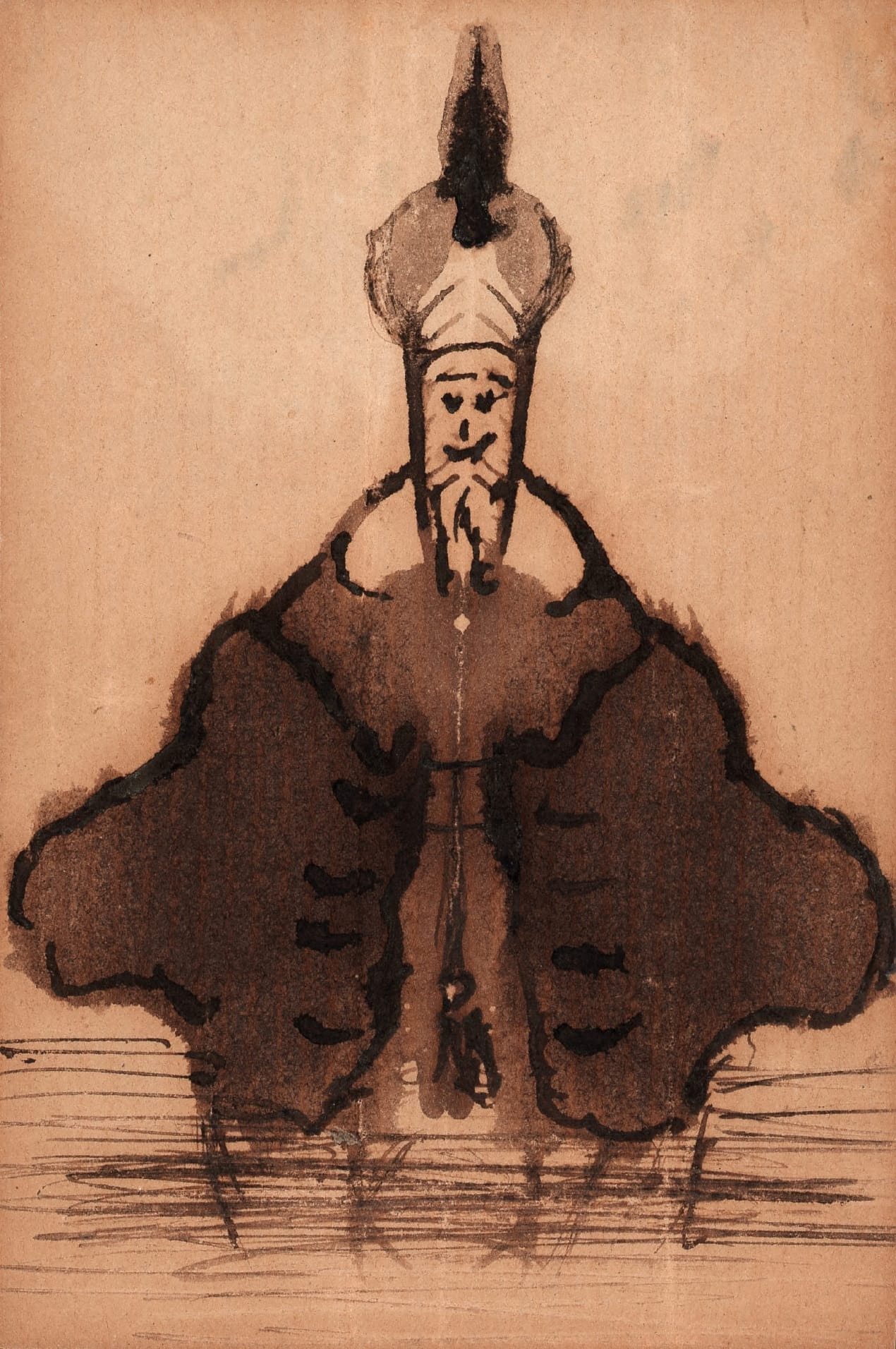 Hans Christian Andersen Mann mit Turban, 1871 Klecksographie Odense City Museums