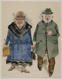 George Grosz (1893 – 1959) A Married Couple 1930 Watercolour, gouache, pen and ink on paper 505 x 440 mm The George Economou Collection © Estate of George Grosz, Princeton, N.J. 2018.