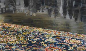 Karin Kneffel, Ohne Titel, 2009 Öl auf Leinwand, 180 x 300 cm Sammlung Droege © VG Bild-Kunst, Bonn 2019, Foto: Achim Kukulies