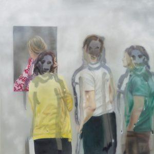 Karin Kneffel, Ohne Titel, 2018 Öl auf Leinwand, 80 x 80 cm Privatsammlung © VG Bild-Kunst, Bonn 2019, Foto: Achim Kukulies