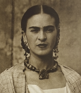 Portrait of Mexican painter, Frida Kahlo.