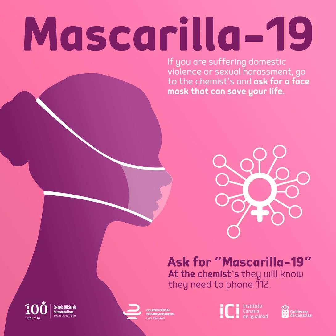 Mascarilla-19, (c) Instituto Canario de Igualdad