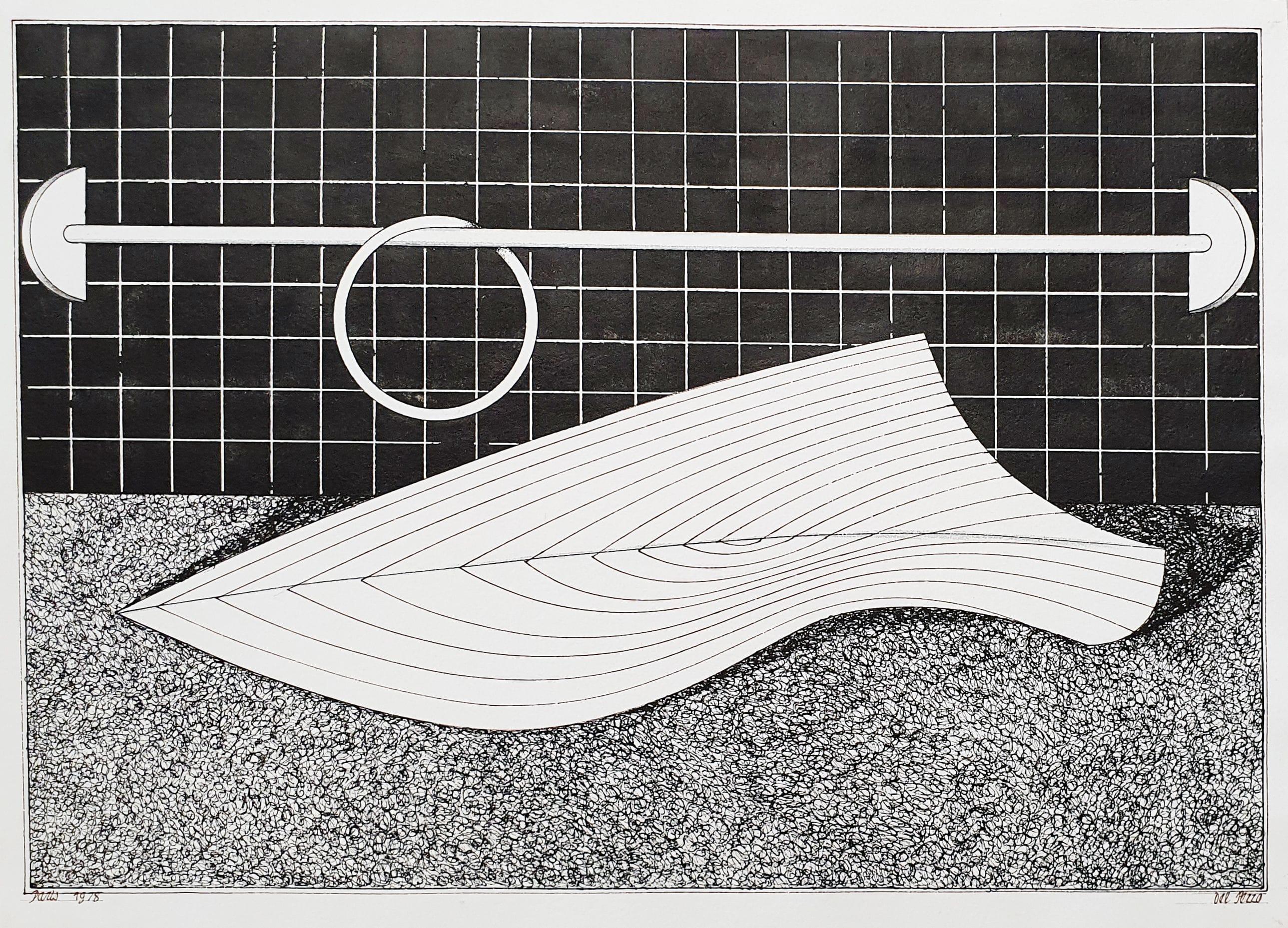 Lucio Del Pezzo Senza titolo , 1978 inchiostro e matita su carta 27 x 38 cm